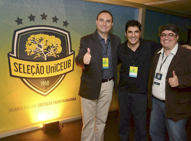 Representantes do UniCEUB, HighTouch e fullDesign